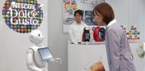 Pepper robot and Nestle